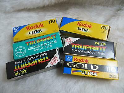 110 Film Bundle Assorted Film Types (ALL OUTDATED)