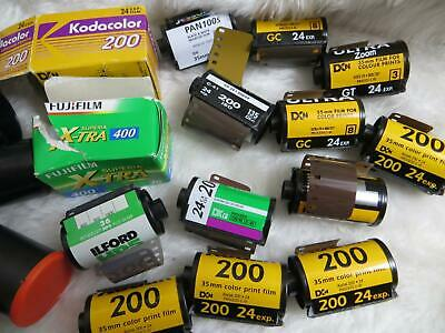 14 rolls 35mm Film Bundle Assorted Film Types (ALL OUTDATED) (PROBABLY UNUSED)