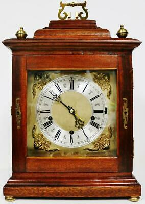 Antique Smiths 8 Day Westminster Chime Musical Mahogany Mantel/Bracket Clock