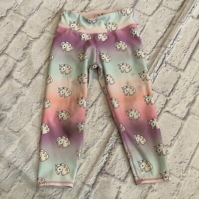 GAP Fit GapFit Girls Sport Leggings Athletic Unicorn Medium 7/8 Cropped
