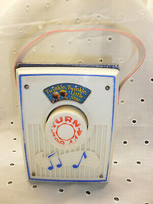 FISHER PRICE: Alter Pocket Radio / Music Box 60er Jahre