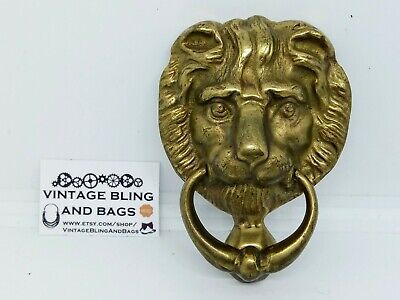 105x76mm 184g vintage Victorian style Reclaimed brass lion door knocker striker