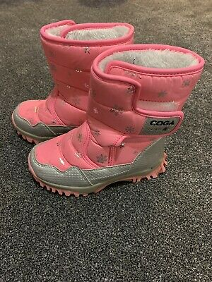 Girls Pink Snow Boots Size 13/13.5 Worn Twice