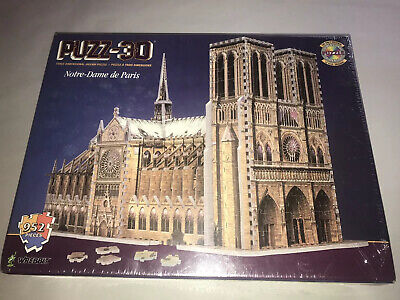 Puzz 3D NOTRE DAME CATHEDRAL 952 pc Wrebbit Milton Bradley SEALED 1996 Puzzle