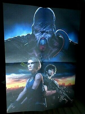 Official RESIDENT EVIL 3 REMAKE Poster - 42cm x 59cm - New & Unused - PS4 Xbox