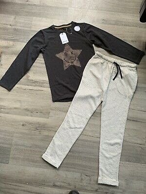 BNWT Boys Next Outfit Bundle Age 6-7 Top And Slim Fit Joggers
