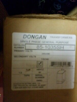 Dongon 85-1035Sh Single Phase Tansformer * New In Box *