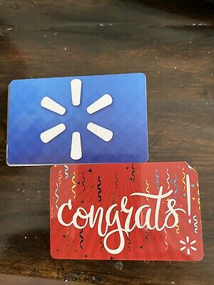 2x Walmart Gift Cards Totaling $75.34
