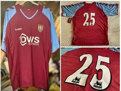 Aston Villa 2004/2005 Ss Home Shirt Player Worn #25 Hummel Dws Adult Xl (46/48)