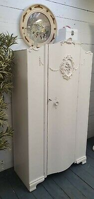 Vintage Painted Wardrobe French Deco Style Shabby Chic CAN ARRANGE COURIER