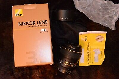 Nikon AF-S NIKKOR 35mm f/1.4G Wide Angle Lens - PERFECT USA w B+W XS PRO Filter!