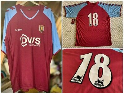 Aston Villa 2004/2005 Ss Home Shirt Player Worn #18 Hummel Dws Adult Xl (46/48)