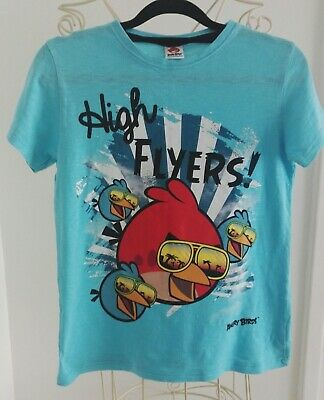 NEXT boys age 11 years angry birds orange,light blue t-shirt hardly worn