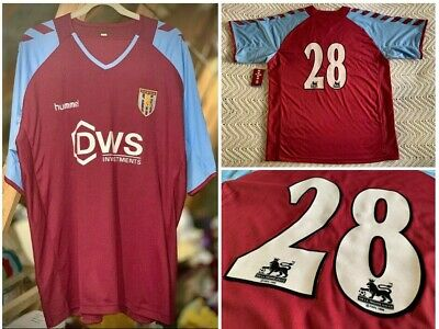 Aston Villa 2004/2005 Ss Home Shirt Player Worn #28 Hummel Dws Adult Xl (46/48)