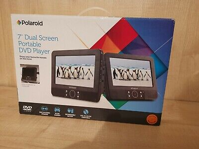 Polaroid 7 inch DUAL SCREEN IN CAR DVD PLAYER, boxed and all cables & remote inc