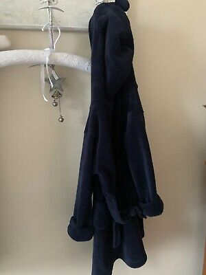 Gap kids navy supersoft velour dressing gown 4 years bear ears hood