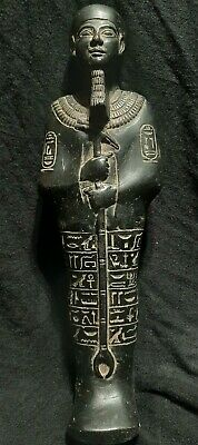 Rare ANCIENT EGYPTIAN ANTIQUES God Ptah Ushabti With HIEROGLYPHICS Stone BC