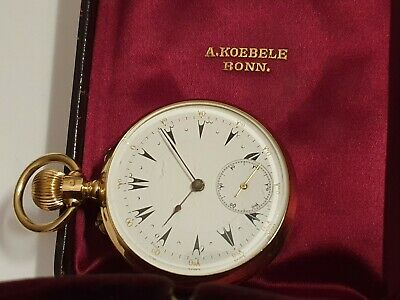 14K / 585 GOLD Dual Time Pocket Watch OTTOMAN / Osmanisch  -Taschenuhr um 1900 -