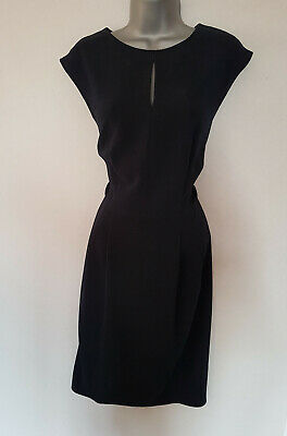 BNWT New MARKS AND SPENCER M&S Navy Blue Cut Out Neck Sleeveless Shift Dress 14
