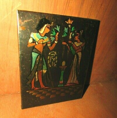 Amazing Antique copper carved plaque for Ancient Egyptian Pharaohs