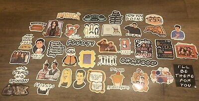 "Nostalgia! New ""FRIENDS"" TV Show STICKERS, Great Quality, 37 Pieces, Set #1"