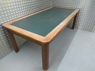Fabulous Statement Dining Table this 1930/40's oak Leather topped Table