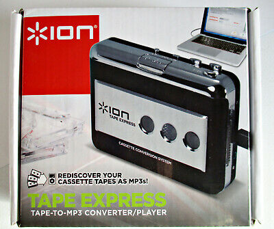 Ion Audio Tape Express Cassette Player Digital Mp3 Converter - New