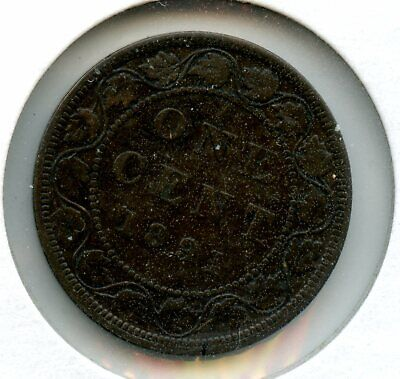 Weeda Canada 1891 Small date Large Cent, Portrait C3, key date, see scans