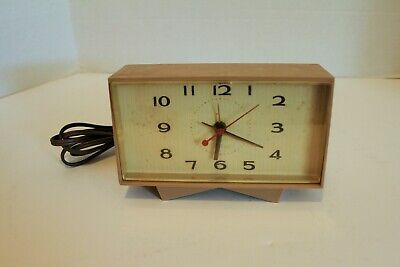 Vintage General Electric Telechron Alarm Clock Model 7H215 Made in USA