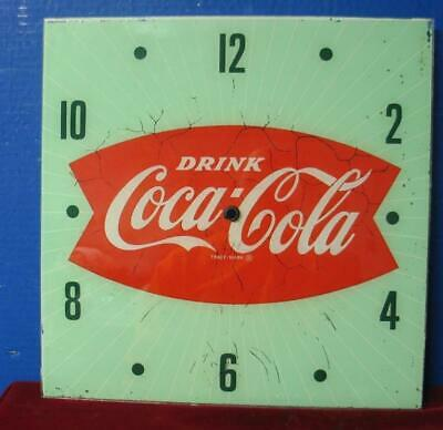Vintage Pam Clock Advertising Dial DRINK COCA COLA