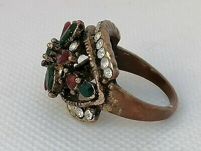Extremely Ancient Roman Ring Bronze Artifact Ring Authentic Rare type
