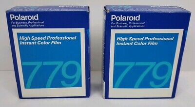 2 x Vintage Polaroid 779 ISO 640 Color High Speed Professional Instant 2 packs