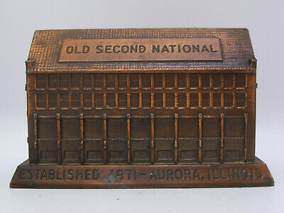 VIntage Banthrico Old Second National Bank Aurora Illinois Still Coin Building