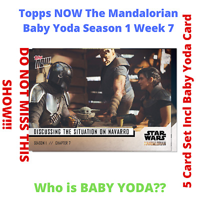NEW Baby Yoda Star Wars The Mandalorian TOPPS NOW 5-Card Pack S1 Chapter 7
