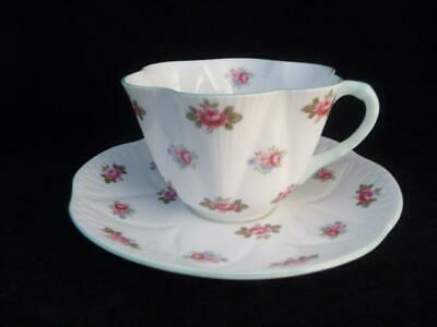 SHELLEY FINE BONE CHINA DAINTY SHAPE CUP & SAUCER ROSEBUD #13426 c1945-1966
