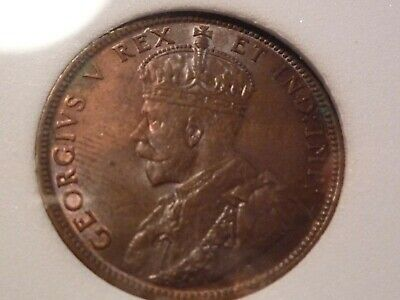 "1911  Canadian One Cent "" Ms-63-Br """