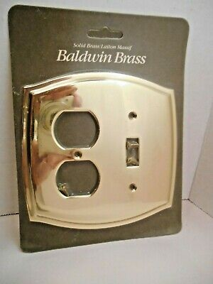 Baldwin Solid Brass Colonial Design Electrical Outlet Switch Plate #4767
