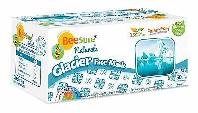 Beesure Glacier Blue Earloop Face Mask ASTM Level 2 Box/50 Corona Surgical