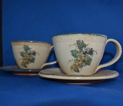 Monroe Salt Works Cups and Saucers (2)