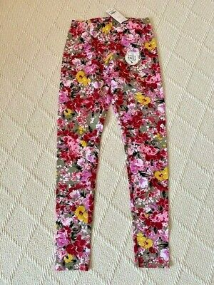 Abercrombie Kid's Leggings, Pink Floral, Size 13/14 NWT