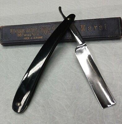 "Nice Little Vintage Geo Wostenholm Str8 Razor 9/16"" Beautiful Etching Shave Rdy"