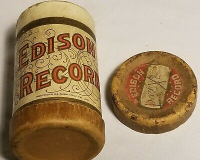Edison Record container only for phonograph cylinder Antique advertising 1900s