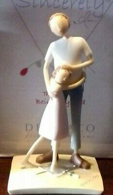 'MOST SINCERELY' FATHER AND DAUGHTER FIGURINE by DEMDACO BRAND NEW IN BOX