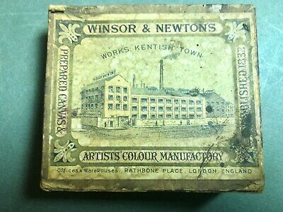 Very Old Antique Box Of Oil Paint Tubes Bywinsor & Newton, London England