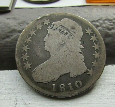 1810 ~ Capped Bust ~ Half Dollar 50c ~ Neat old Coin!!