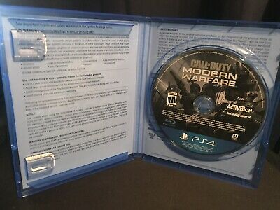 PS4 Playstation 4 Call of Duty Modern Warfare Great Condition 2019