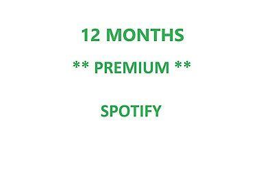 12 months Spotify Premium - extend existing account or create new Trusted Seller