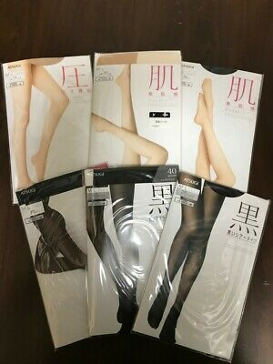 6 x ATSUGI ASTIGU Pantyhose Stockings 5 kinds of Pantyhose
