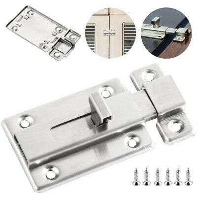 Heavy Duty Sliding Door Bolt Bathroom Toilet Dead Lock Slide Gate Catch #NP