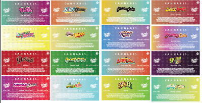 Jungle Boys Cali Packaging Pre Roll Labels Stickers strain slaps